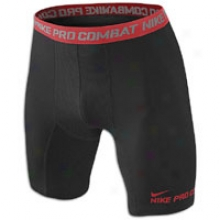 "Nike Pro Combat Hyper Cool 6"" Short - Mens - Black/varsity Red"