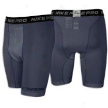 "Nike Pro Combat Hypercool 6"" Short - Mens - Carbon Heather"