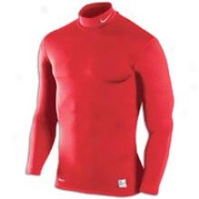 Nike Pro Combat Hyperwarm Comp Mock - Mens - Varsity Red