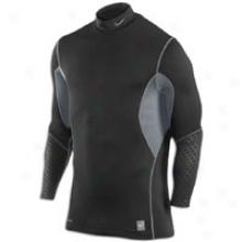 Nike Pro Combat Hyperwarm Fit Shield Moc - Mens - Black/flint Grey