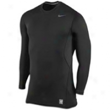 Nike Pro Combat Hyperwarm Fitted Crew - Mens - Black