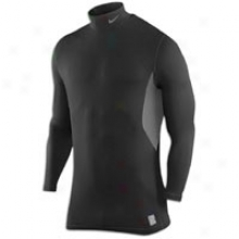 Nike Pro Combat Hyperwarm Fitted Mock - Mens - Black