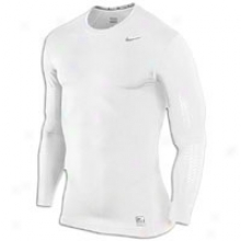 Nike Pro Combat Lockdown L/s Compressioh - Mens - White