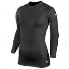 Nike Pro Combat Thermal Crew - Womens - Black