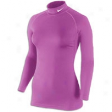 Nike Pro Combat Thermal Mock - Womens - Steep Berry
