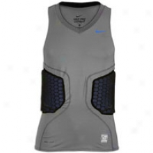 Nike Pro Combat Vis Basketball Top - Mens - Grey/royal