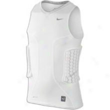 Nike Pro Combat Vis Crop - Big Kids - White