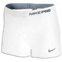 "Nike Pro Core 2.5"" Compression Short - Womens - White/cool Grey"