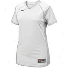 Nike Probability S/s Jersey - Womens - White/white/black