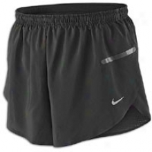"Nike Race Day 3"" Split Short - Mens - Blaco/reflectvie Silver"