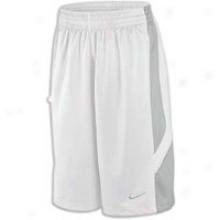 Nike Reign Maker Short - Mens - White/matte Silver/white/matte Silver