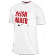 Nike Reign Maker T-shirt - Mens - White/varsity Red