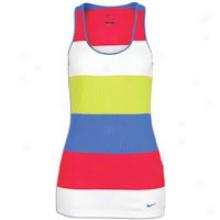 Nike Rib Tank Stripe - Womens - Scarlet Fire/signal Blue
