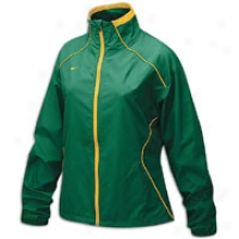 Nike Run Blitz Full-zip Jerkin - Womens - Mysterious Green/bright Gold/bright Gold