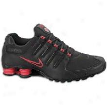 Nike Shox Nz - Mens - Black/black/red