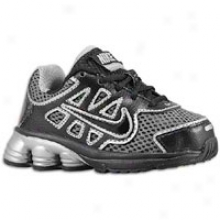 Nike Shox Qualify 2 - Toddlers - Black/black/metallic Silver