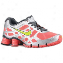Nike Shox Turbo + 12 - Womens - Solar Red/metallic Silver/anthracite/high Voltage