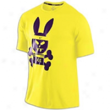 Nike Sinister Hare T-shirt - Mens - Chrome Yellow/reflective Silver