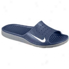 Nike Solarsoft Sliee - Mens - Midnight Navy/white