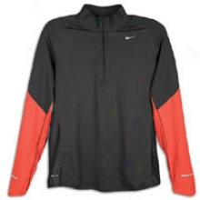 Nike Sphere 1/2 Zip - Mens - Anthracite/max Orange/reflective Silver