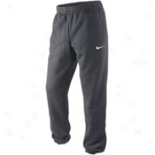 Nike Squad Fleece Cuff Pant - Mens - Anthracite/white