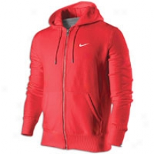 Nike Gang Fleece Full-zip Hoodie - Mens - Sport Red