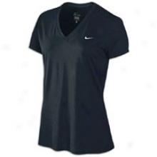 Nike S/s Legend V T-shirt - Womens - Black/white