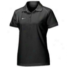 Nike S/s Polo Ii - Womens - Black/white