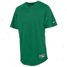 Nike Stock Elite Henley 1.2 S/s Jersey - Mens - Dark Green/white