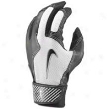 Nike Swingman Batting Glove - Mens - Black/white/black