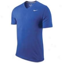 Nike Swoosh S/s V-neck T-shirt - Mens - Old Royal