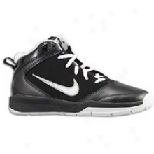 Nike Team Hustle D 5 - Big Kids - Black/metallic Silver/white