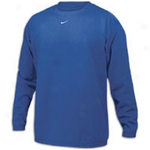 Nike Team Tech Fleece Crew - Mens - Royal/white