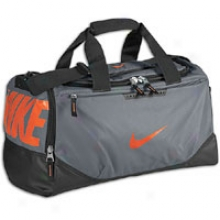 Nike Team Training Small Duffel - Cool Grey/black/team Orange