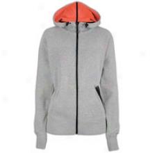 Nike Tech Beta 77 Jacket - Womens - Dark Grey Heather/solar Red