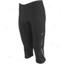 Nike Tech Capri Extended - Womens - Black/matte Silver