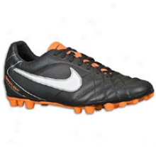 Nike Tiempo Flight 4 Ag - Mens - Black/total Orange/white