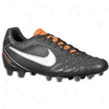 Nike Tiempo Flight Fg - Mens - Black/total Orange/white