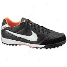 Nike Tiempo Mystic 4 Tf - Mens - Black/total Orange/white