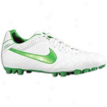 Nike Tiempo Mystic Iv Ag - Mens - White/metallic Silver/court Green