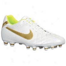 Nike Tiempo Mysticc Iv Fg - Mens - Metallic Summit White/metallic Gold Grain/volt