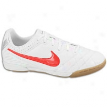 Nike Tiempo Natural Iv Ic - Big Kids - White/metallic Silver/siren Red