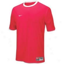 Nike Tiempo S/s Jersey - Big Kids - Scarlet/white/white