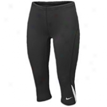 Nike Tight Capri - Womens - Black/white/white