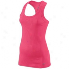 Nike Tight Chill Pol Legend Rib Tank - Womens - Pink Flash/cool Grey