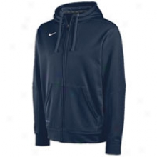 Nike Tko Full-zip Performance Fleece Hoodie - Mens - Navy/white/white