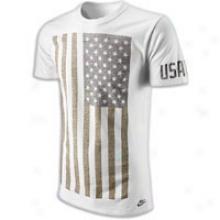 Nike Usatf T-shirt - Mens - Summit White