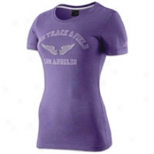 Nike Ustf Graphic Stylw 1 S/s T-shirt - Womens - Ultraviolet