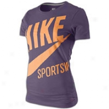 Nike Vintage Exploded Sportswear T-shirt - Womens - Wine/marakesh