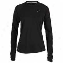 Nike Wool Dri-fit Crew - Womens - Black/reflective Silver